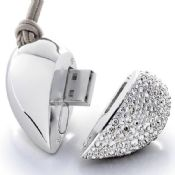 Crystal heart shape usb memory images