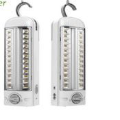 Emergency light with dry battery pack with led light images