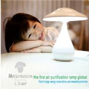 Eye-protection rechargeable portable mushroom purification table lamp images