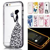LED Flash Light Case+Bumper For iPhone 6s Case Transparent images