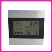Metal cheap price multifunctional weather station clock images