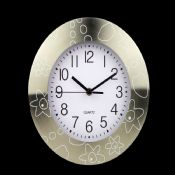 Metal round wall clock images