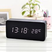Multifunctional led digital desktop wooden LED clock images