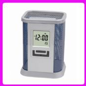 Office desktop brush pot clock images