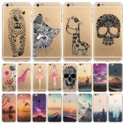 Transparent Flowers Animals Scenery Patterns Back Design Case Cover images