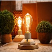 Vintage ceramic wooden  bulb table lamp images