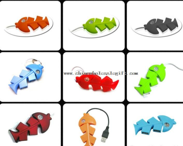 Promotional Gifts Cute Fish USB Hub 4 Port