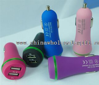 Usb car charger rubber surface with Cable
