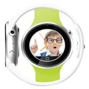 Round smart watch phone compatiable IOS and Android images