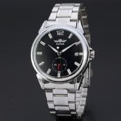 mechanical movement full steel mens skeleton watches images
