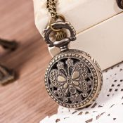 Necklace Pendant Chain Clock Pocket Watch images