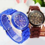 silicone band women geneva watch images
