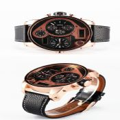 3 Time Casual Leather Watch images