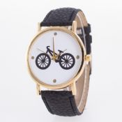 Bicycle-Dial Leather Watch Strap images