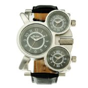 different time zones leather strap fashion watches images