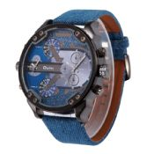 Men Dual Time Zone Large Dial Sports Watches images