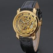 womens geneva leather hollow watch images