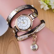 Bright long strap pu leather hand watch images