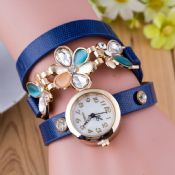 montre vintage Diamond flower femme longue sangle images