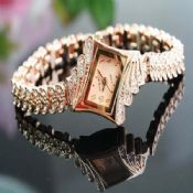 gold metal bracelet ladies watches images