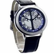 Unisex waterproof led watch images