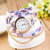 Fashion Luxury Chain Flower Women Watches images