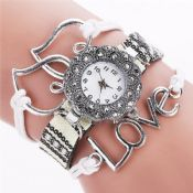 love heart pendant braided bracelet watches images