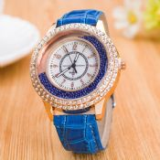 Crystal Ladies Fashion Leather Belt Watch images