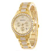Stainless Steel Rhinestone Womens Wrist Watch images