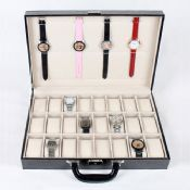 36 Grid Leather Velvet Portable Watch Storage Box images