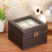 premium brown watch and jewelry box images