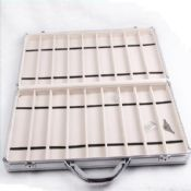 Watch Boxes Cases Display Tray Aluminium With Handle Lock 18 Slots images
