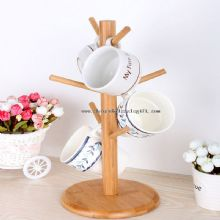 bamboo coffee cup rack images