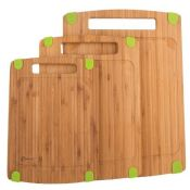 3pcs bamboo chopping block with silicone feet images