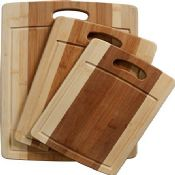 bamboo chopping board set images