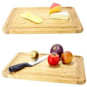large bamboo butchers block chopping board images