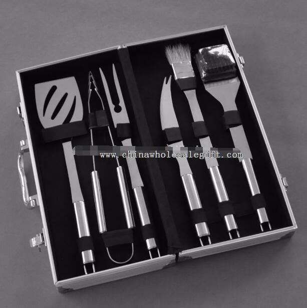 6-Piece Stainless Steel BBQ Accessories Tool Set