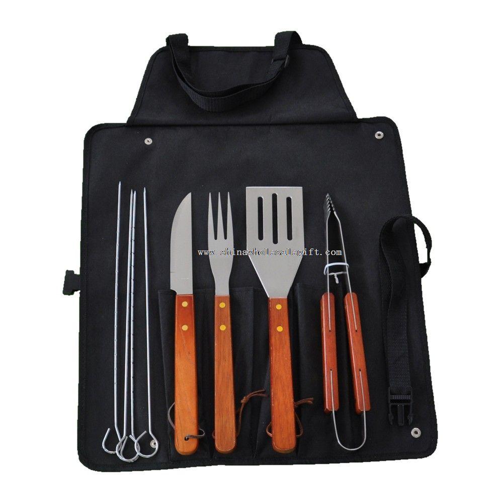 7pcs wooden BBQ tools set