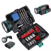 25 Piece Multi-Function Tool Set with Flashlight images