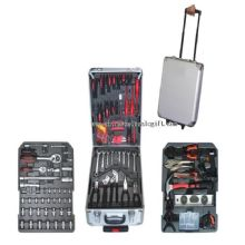 286pcs Aluminum case professional tool set in trolley images
