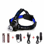 Aluminum high power lens led headlamp images