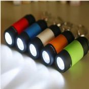 USB rechargeable flashlight with keychain images