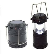 solar usb rechargeable camping lantern with 6 LED images