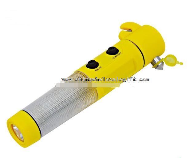 led multi-function safety flashlight