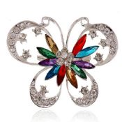 Rhinstone Butterfly Metal Lapel Pin images