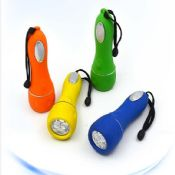 3LED ABS waterproof flat flashlight images