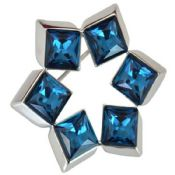 Blue Diamond Lapel Pin Brooch images