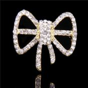 Crystal Knot Lapel Pin images
