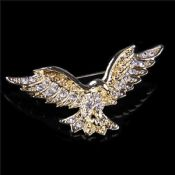 Crystal Eagle Shape Brooch For Men Lapel Pin images