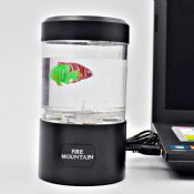 USB charging and battery fire mountain mini fish tank images